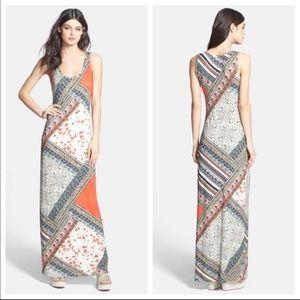 Lily Aldridge for Velvet Print Maxi Dress Medium